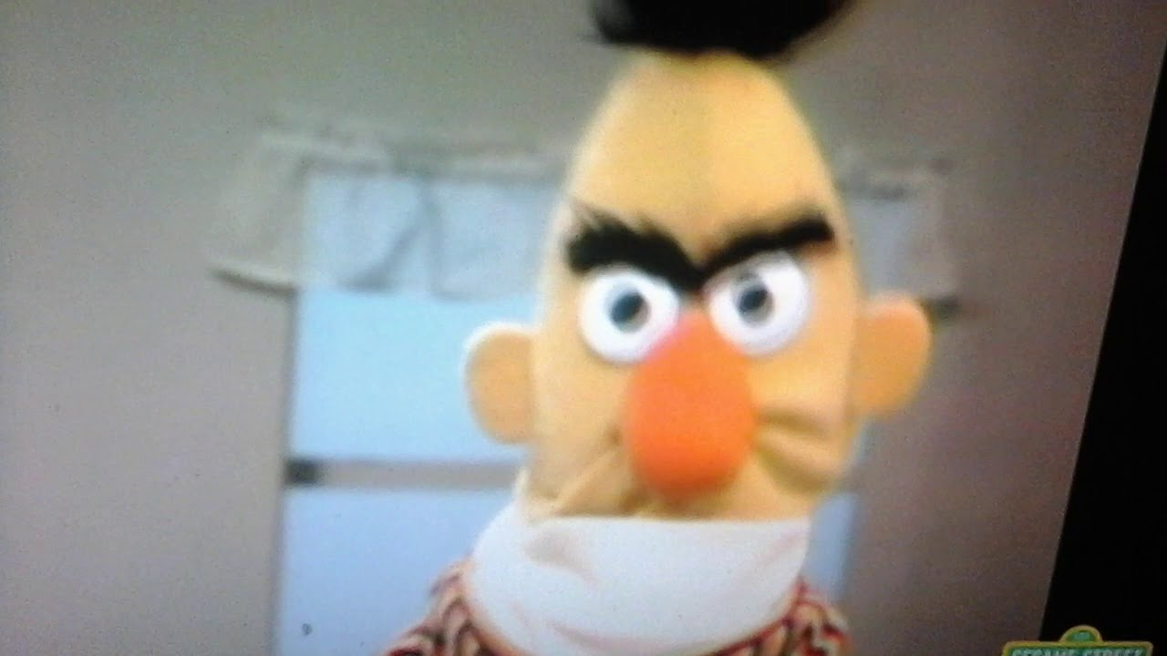 Classic Sesame Street Ernie Pretends That Berts Angry Youtube