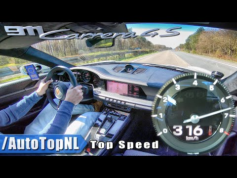 2020 PORSCHE 911 992 Carrera 4S | TOP SPEED 316km/h On AUTOBAHN NO SPEED LIMIT! By AutoTopNL