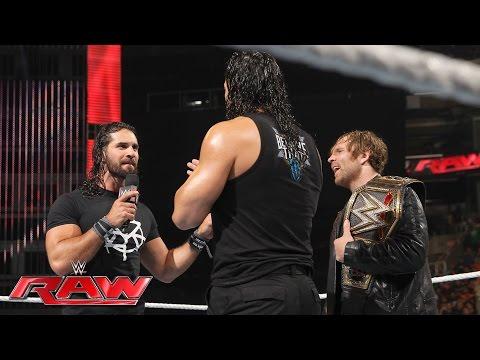 Dean Ambrose celebrates his WWE World Heavyweight...