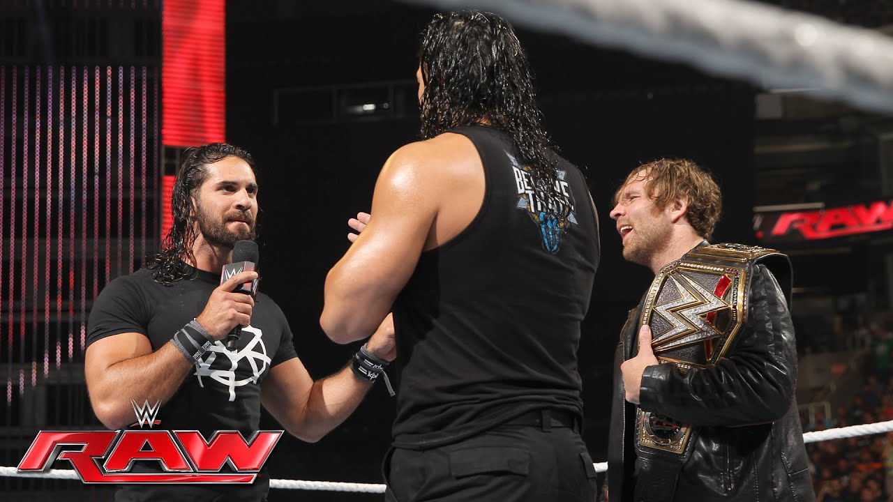 Dean Ambrose celebrates his WWE World Heavyweight Championship victory: Raw, June 20, 2016 #1
