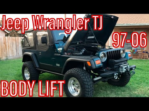 "Jeep Wrangler TJ – DIY  1"" Body Lift   How To Install On 97-06"