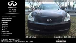 Used 2008 Infiniti G35 Sedan | Sunrise Auto Sales, Rosedale, NY