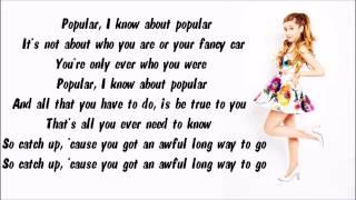 Ariana Grande - Popular Song Karaoke / Instrumental with lyrics on screen