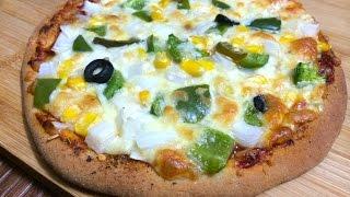 Yeast Free Pizza | No Yeast Pizza - Recipe By Bharatzkitchen