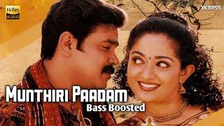Munthiri Paadam | Bass Boosted Audio | Kochi Rajavu | X Bass