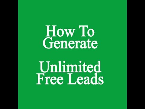 Free Lead Generating Software – How To Generate Unlimited Free Leads