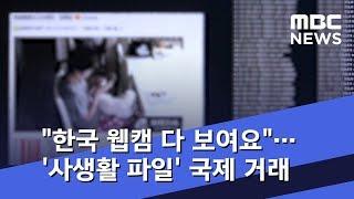 """""""한국 웹캠 다 보여요""""…"""