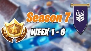 ALL Secret Battle Stars and Banners from Week 1-6 Season 7 Fortnite