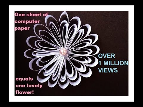 One sheet of computer paper one lovely flower youtube one sheet of computer paper one lovely flower mightylinksfo