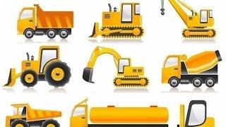 дорожно-строительная техника для детей, развивающее видео для детей, рабочие машины
