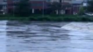 Route 611 Delaware River in Easton, Pennsylvania under flood