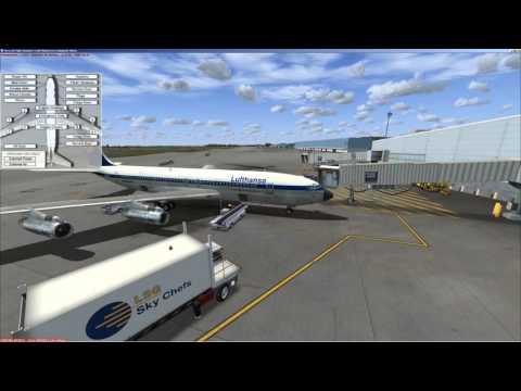 FSX | Captain Sim | Boeing 707 | cold&dark | CIVA Flight | KPHL - KBOS