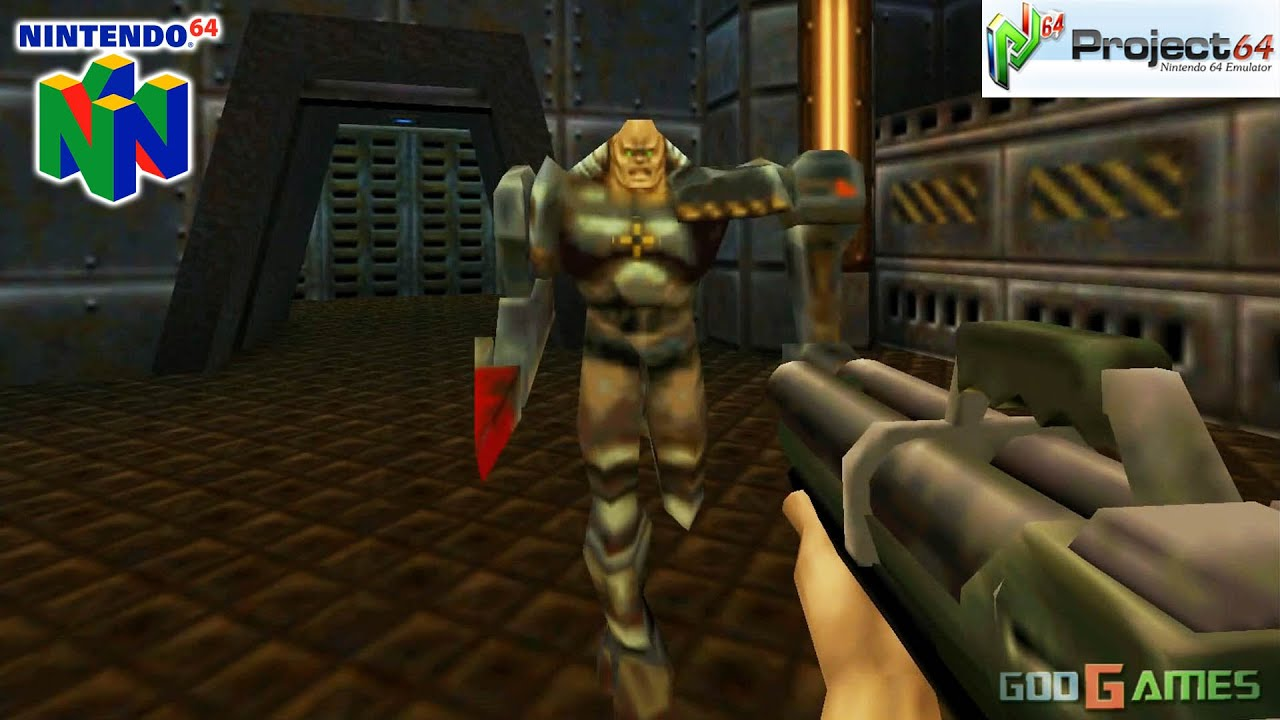 Quake II - Gameplay Nintendo 64 1080p (Project 64)