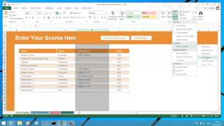 Hide or Unhide rows, columns, worksheet and workbook in Excel 2013