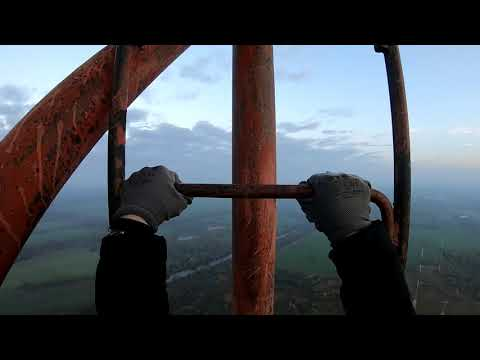 Climbing highest radio tower in Lithuania   240m /787ft