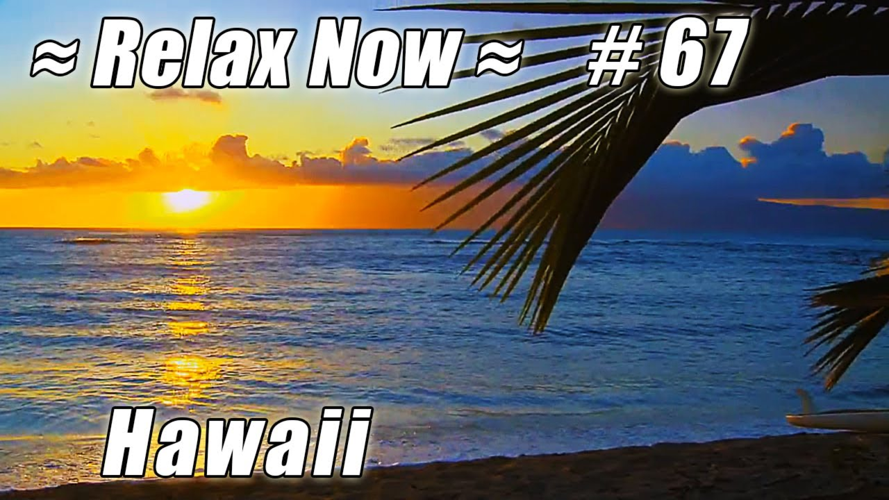 Tropical Island Beach Ambience Sound: MAUI Keonenui Beach, Hawaii #67 Beaches Ocean Waves HD