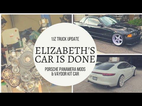 1JZ drift truck update & ELIZABETHS car is done!