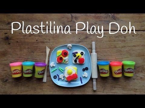 Sandwiches como figuras de plastilina play doh para niños:
