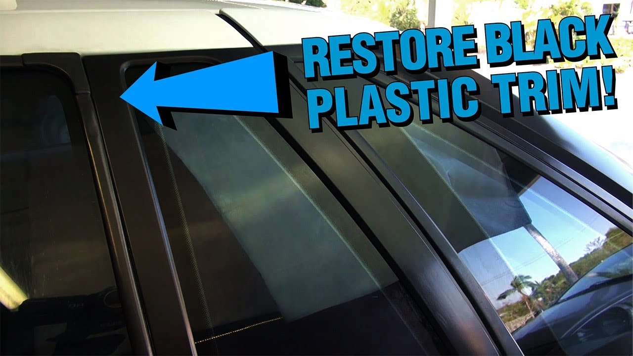 Restoring Faded Black Plastic Trim On Your Car Permanently Youtube