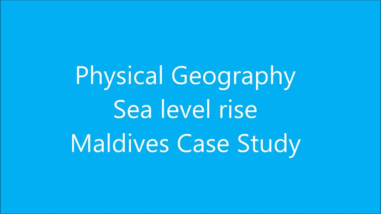 gcse geography maldives case study