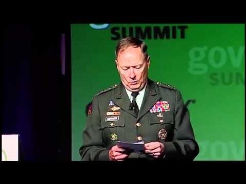 "Gov 2.0 Summit 2010:  General Keith Alexander, ""U.S. Cybersecurity Policy, Strategy..."""