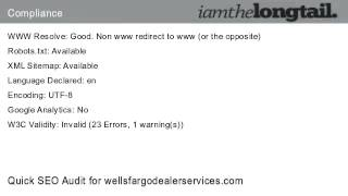 wellsfargodealerservices.com Quick SEO Audit Score 50.7%