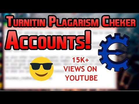 How to Cheat Turnitin Accounts Available 2019 - YouTube