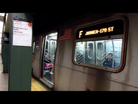 MTA New York City Subway: Jamaica bound R160A-2 F Train at the Atlantic Ave-Barclays Center Station