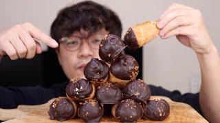 이마트 디저트 초코밀크핀 먹방 / Eating Choc…