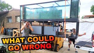 Nerve Racking Tank Move! - 580 Gallon Massive Glass Aquarium