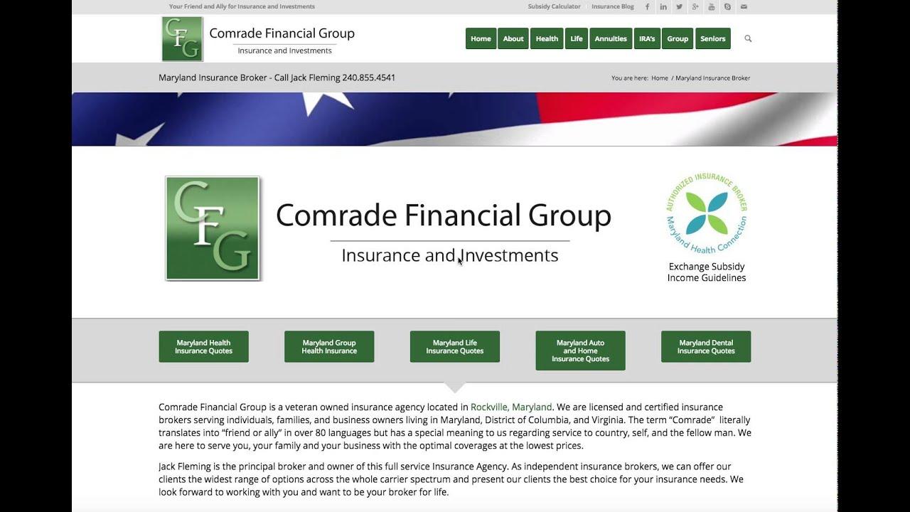 Maryland Insurance Broker - Comrade Financial Group - YouTube
