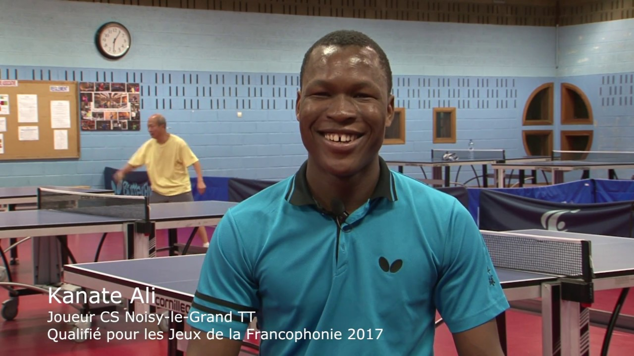 Ping  à l'Africaine - Ali Kanate - En préparation aux Jeux de la Francophonie
