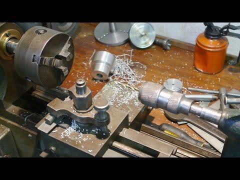 Metal turning on my old wood lathe