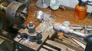 Metal turning on my old wood lathe