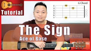 The Sign - Ace of Base Guitar Tutorial - NO CAPO