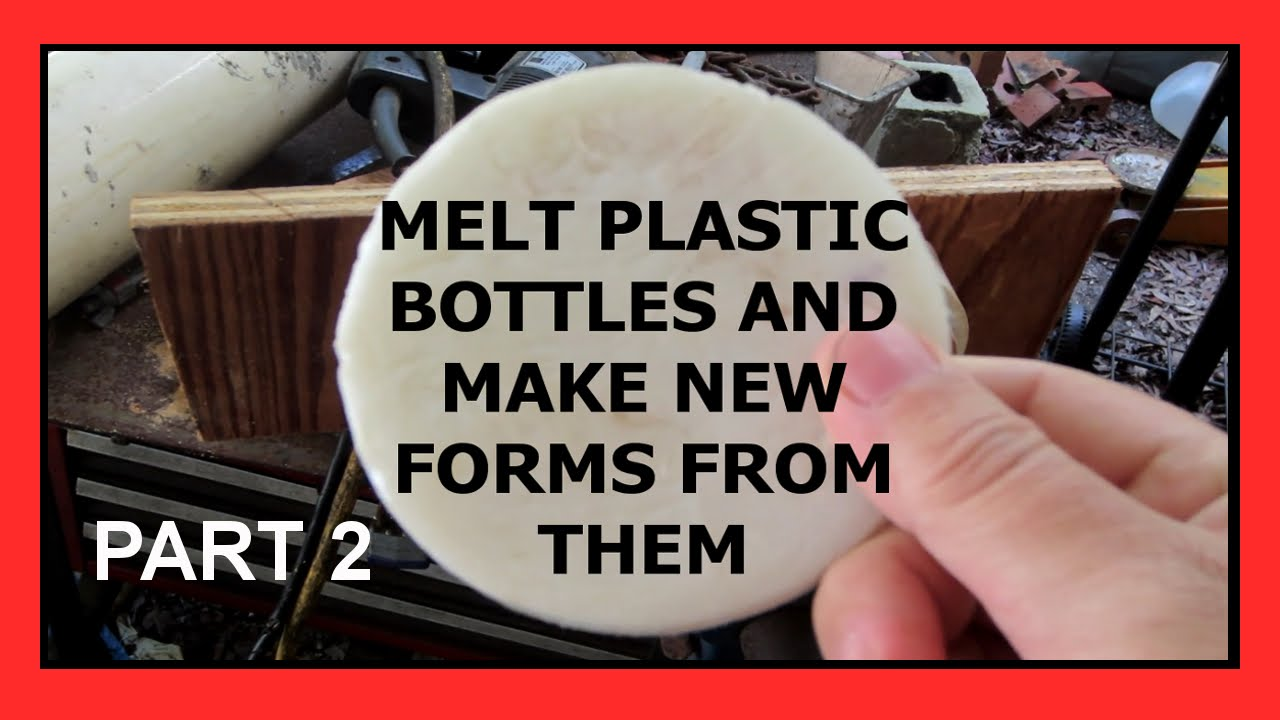 Melt Recycling Plastic Bottles And Making New Forms Part