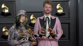 Billie eilish and finneas on the red carpet at 63rd grammy awards sunday, march 14th staples center in los angeles. about recording academy...