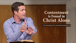 Contentment is Found in Christ Alone - Jesse Barrington