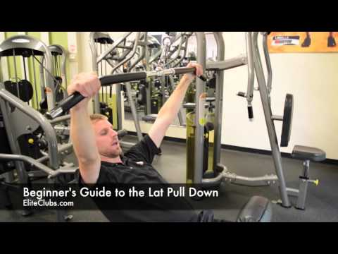 Beginners Guide To The Lat Pull Down Machine