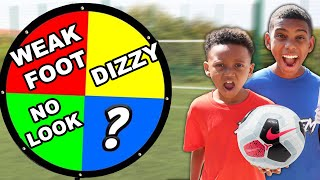 SPIN The  MYSTERY Wheel & DOING Whatever It Lands On   Football Challenge