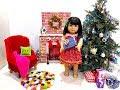 American Girl Doll Christmas Set Up- Traditional Decor 2017