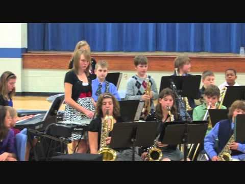 Wolf Branch Middle School Jazz Band performs White Christmas