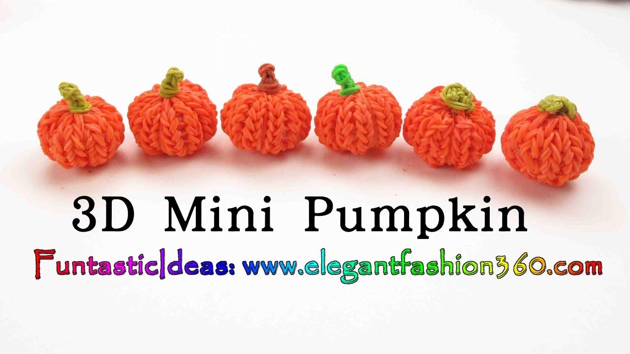 Rainbow Loom Pumpkin 3d Mini Charms Halloween How To