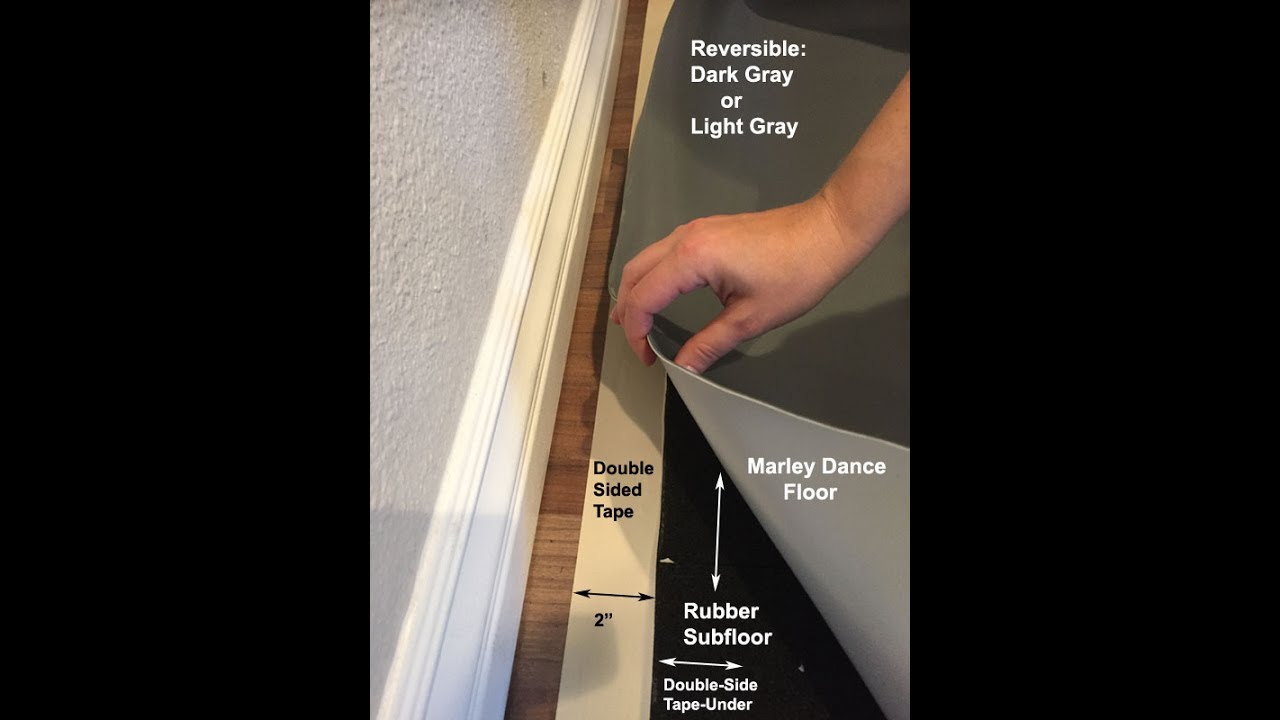 Marley Dance Floor Installation Youtube