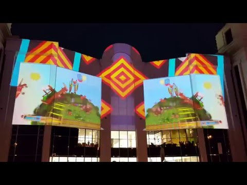 Stunning Light video show at Oman Avenues Mall , Muscat Oman - عمان افنيوز مول‬‎