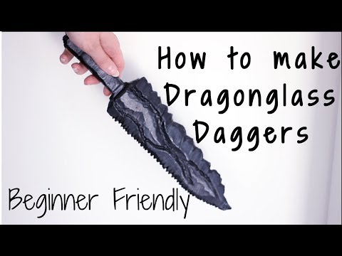 Dragonglass Dagger | Game of thrones weapon tutorial - Beginner friendly! thumbnail