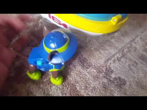 Paw patrol boat and submarine toys