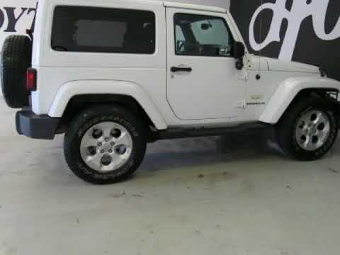 2014 Jeep Wrangler 4X4 2 Door SUV Sahara White Used SUV For Sale Near The  Colony
