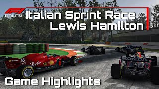 F1 Sprint Italian 2021 Gąme Android. Lewis Hamilton complete a lap and warm tires to 100%.