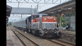 甲種輸送 DE10 1726号機+ヨ8000形+名古屋市営地下鉄N3000形(N3109H) 牛久保駅通過